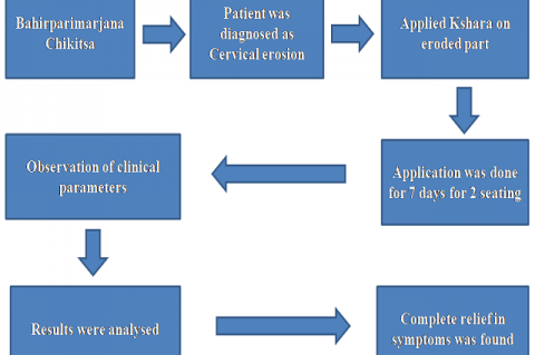 Efficacy of Yava Kshara Application in the Management of Cervical Erosion: A Case Study